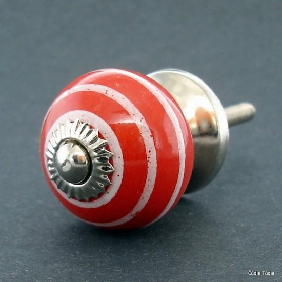 Nábytková úchytka červená 3 cm - knopka