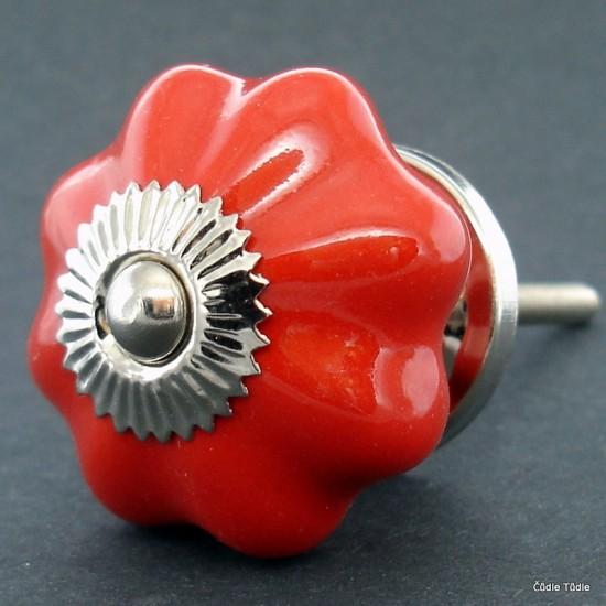 Nábytková úchytka červená 4,2 cm - knopka