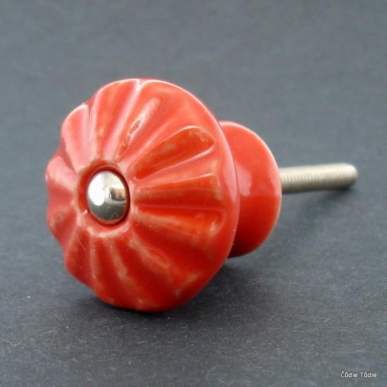 Nábytková knopka červená 3 cm - úchytka