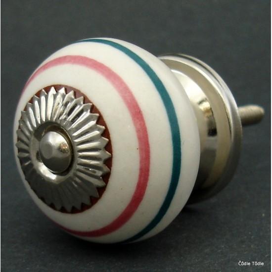 Nábytková úchytka bílá 3,7 cm - knopka