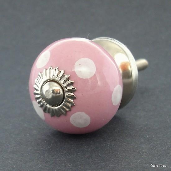 Nábytková úchytka růžová 3 cm - knopka