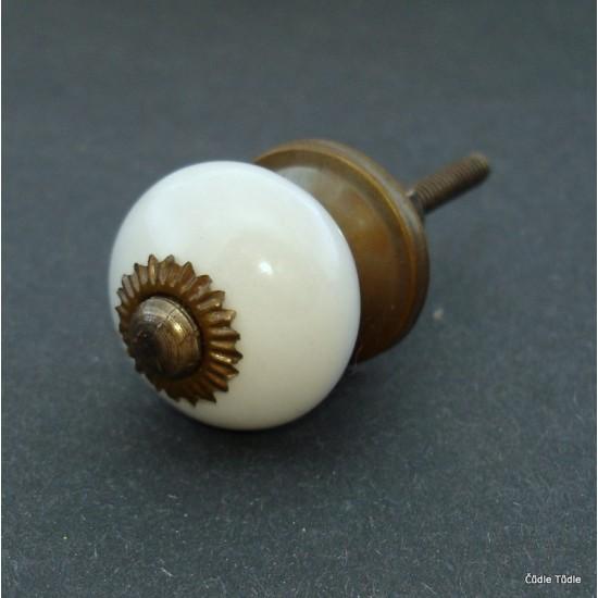 Nábytková úchytka bílá 3 cm - knopka