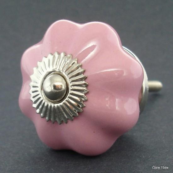Nábytková úchytka růžová 4,2 cm - knopka