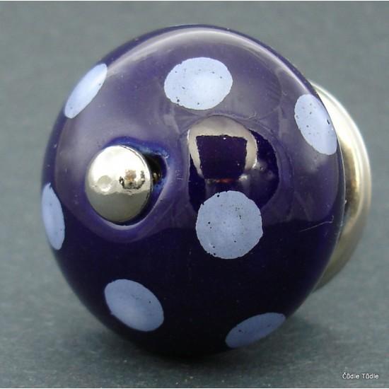 Nábytková úchytka tmavě modrá 4 cm - knopka