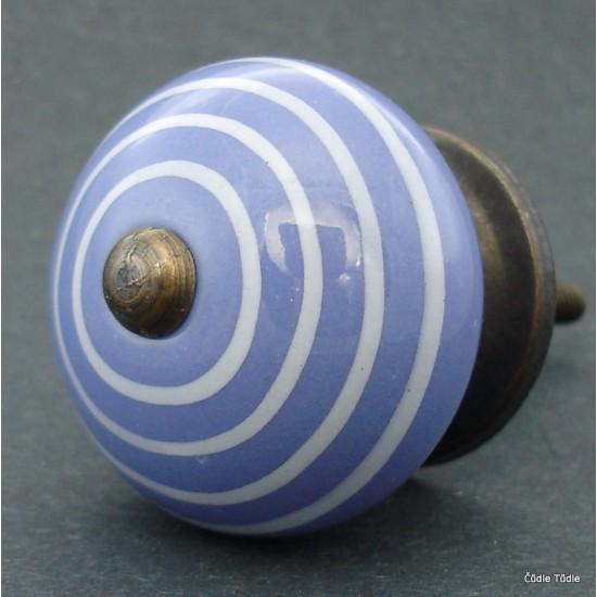 Nábytková úchytka modrofialová  4 cm - knopka