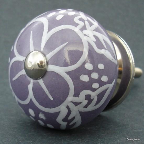 Nábytková úchytka fialová 4 cm - knopka