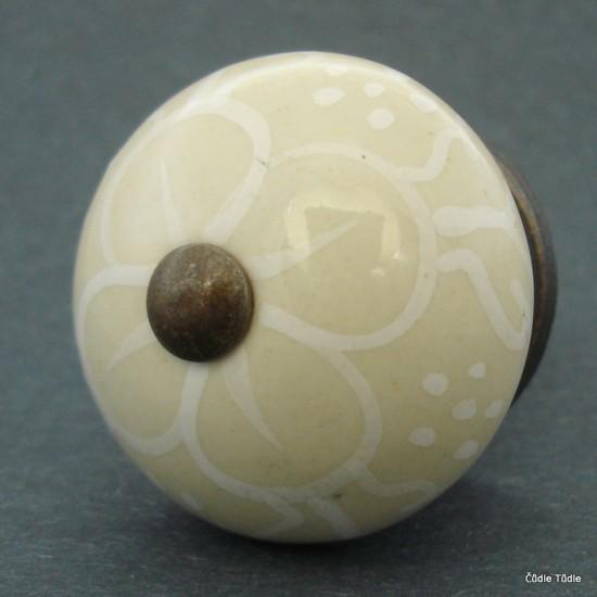 Nábytková úchytka béžová 4 cm - knopka