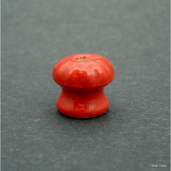 Nábytková knopka červená 1,4 cm bez vrutu  - úchytka