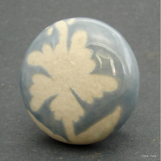 Nábytková úchytka šedá - 4 cm - knopka