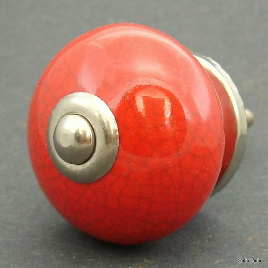 Nábytková úchytka červená- 4 cm - knopka