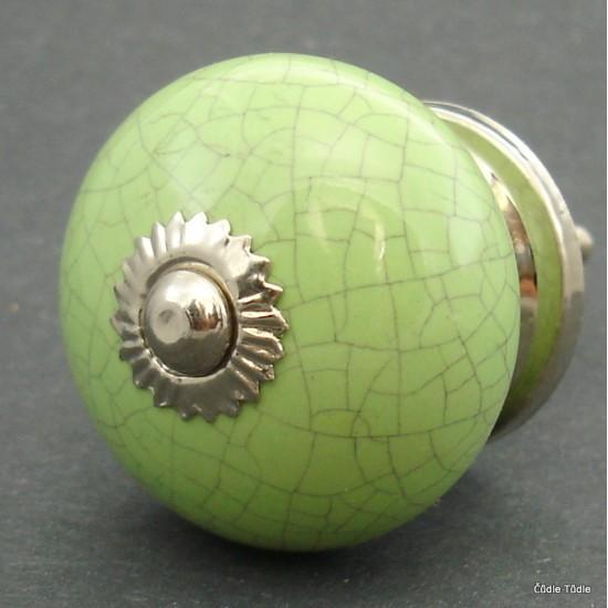 Nábytková úchytka zelená- 4 cm - knopka