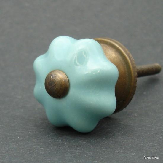 Nábytková úchytka modrozelená 3 cm - knopka
