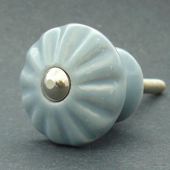 Nábytková knopka šedá 3 cm - úchytka