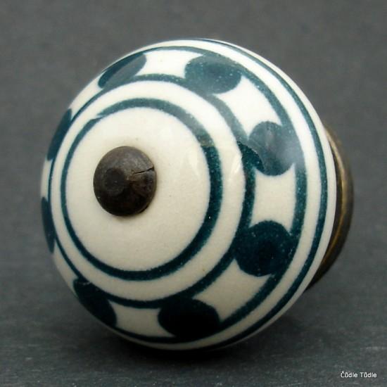 Nábytková úchytka bílá 4 cm - knopka