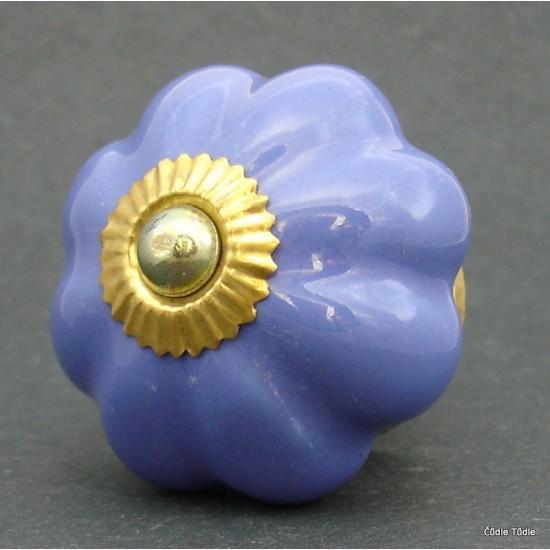 Nábytková úchytka fialová 4,7 cm - knopka