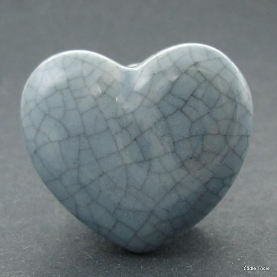 Nábytková úchytka šedá crackle efekt 4,5 cm - knopka