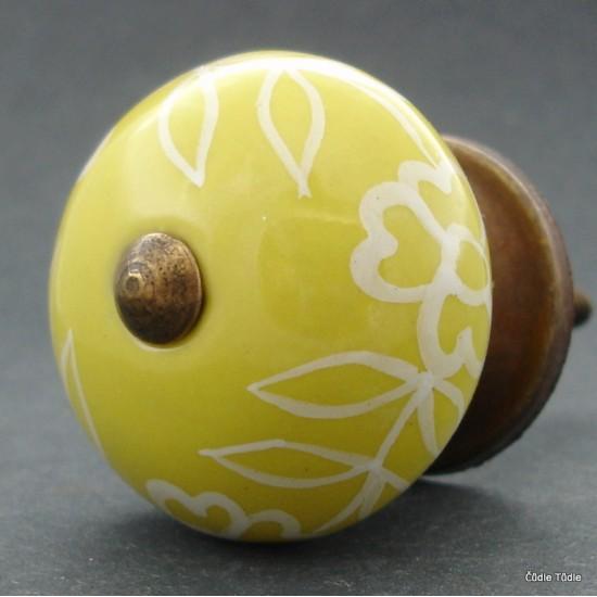 Nábytková úchytka žlutá 4 cm - knopka