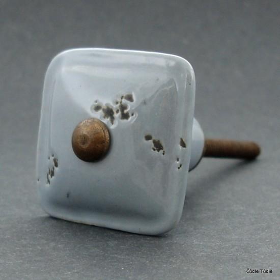 Nábytková úchytka šedá s patinou 3,5 cm - knopka