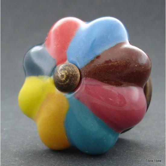 Nábytková úchytka pestrobarevná 4,2 cm - knopka