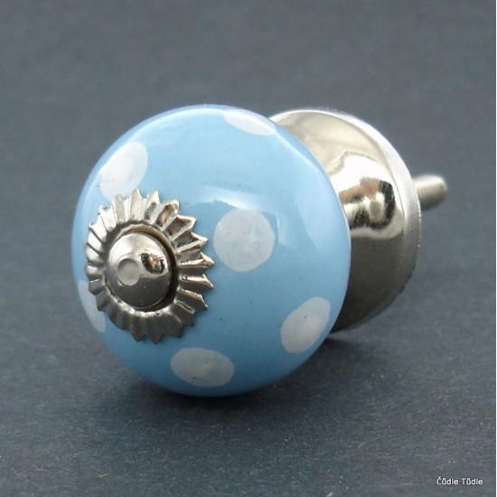 Nábytková úchytka světle modrá 3 cm - knopka
