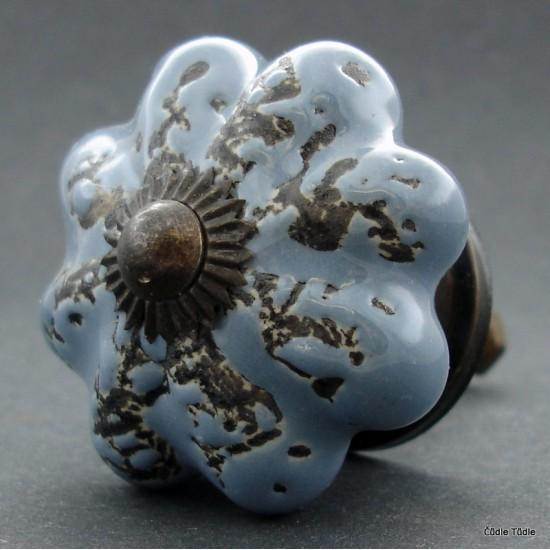 Nábytková úchytka šedá s patinou 4,5 cm - knopka
