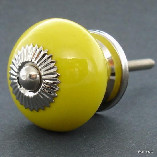 Nábytková úchytka žlutá 3,7 cm - knopka