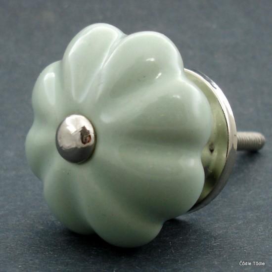 Nábytková úchytka světle zelená 4,2 cm - knopka