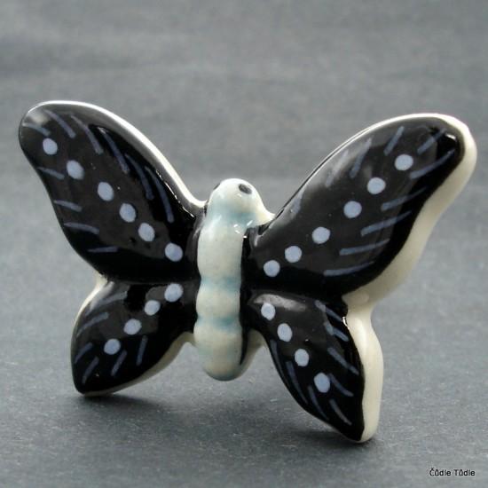 Nábytková úchytka ve tvaru motýla- knopka