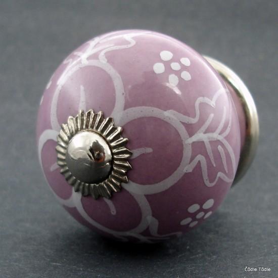 Nábytková úchytka světle fialová 4 cm - knopka
