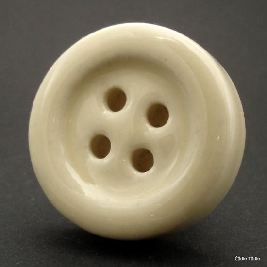 Nábytková úchytka krémová tvar knoflíku 4 cm - knopka