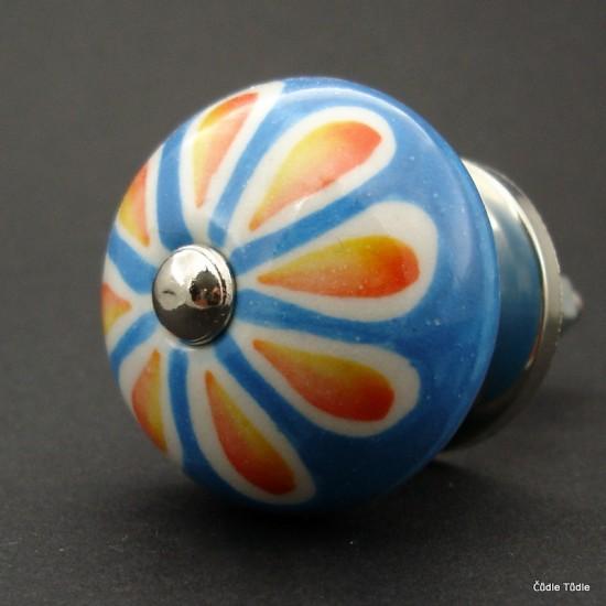 Nábytková úchytka světle modrá 3,7 cm - knopka