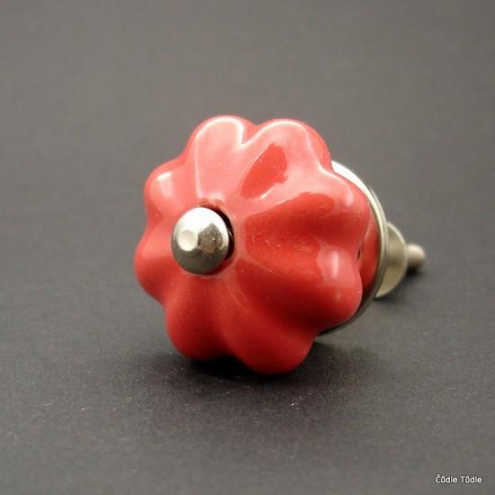 Nábytková úchytka červená 3,5 cm - knopka