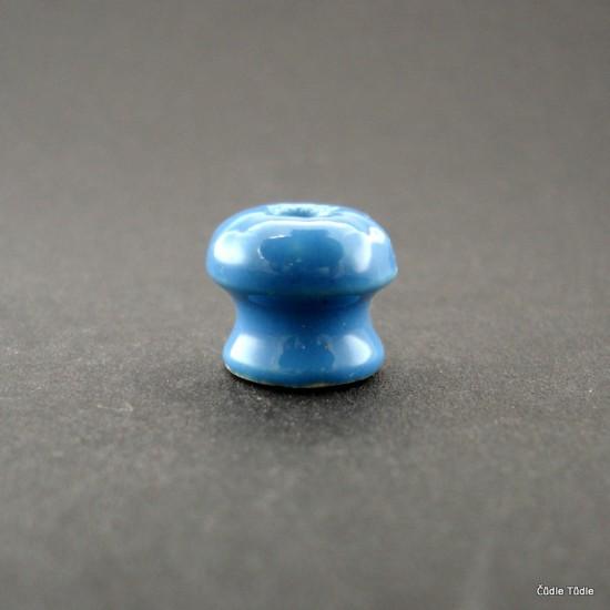 Nábytková knopka světle modrá 1,4 cm bez vrutu  - úchytka