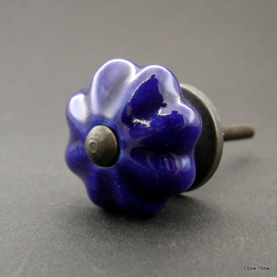 Nábytková úchytka tmavě modrá 3,5 cm - knopka