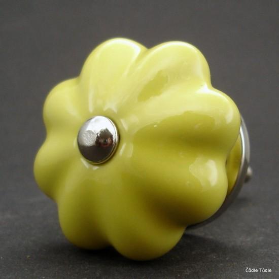 Nábytková úchytka žlutá 4,2 cm - knopka
