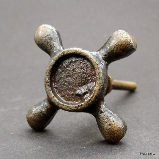 Nábytková úchytka litinová 5,2 cm - knopka