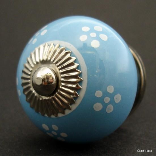 Nábytková úchytka světle modrá 4 cm - knopka