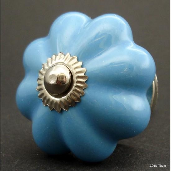 Nábytková úchytka světle modrá 4,2 cm - knopka