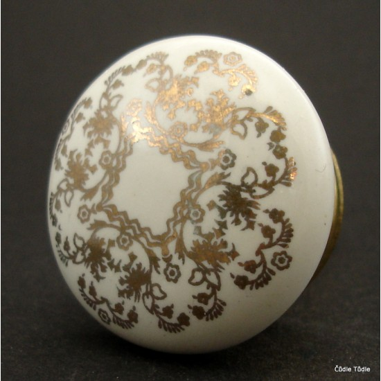 Nábytková úchytka se zlatým potiskem 4 cm - knopka
