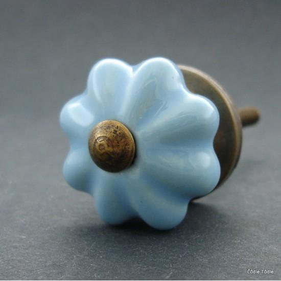 Nábytková úchytka světle modrá 3,5 cm - knopka