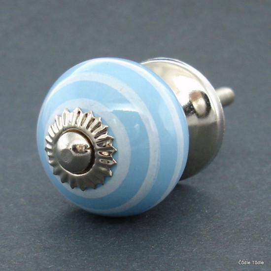 Úchytka světle modrá 3 cm