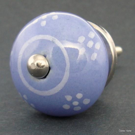 Nábytková úchytka modrofialová 3,7 cm - knopka