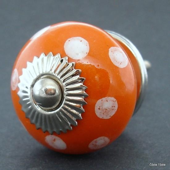 Úchytka oranžová 3,7 cm