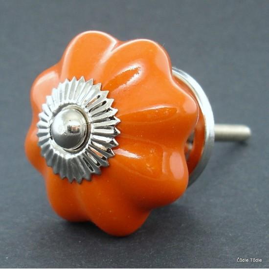 Nábytková úchytka oranžová 4,2 cm - knopka